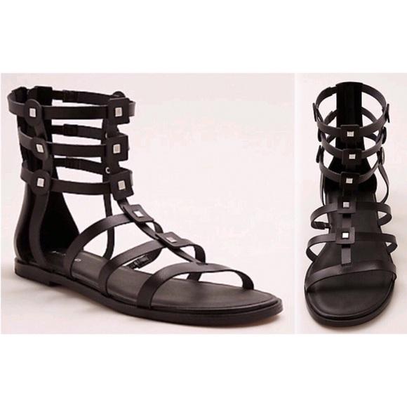 82425e66ed8 Black Studded Gladiator Sandals (Wide Width) 10.5